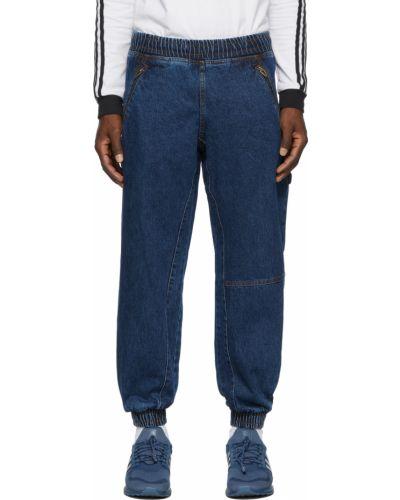 Синие брюки в полоску Adidas X Ivy Park