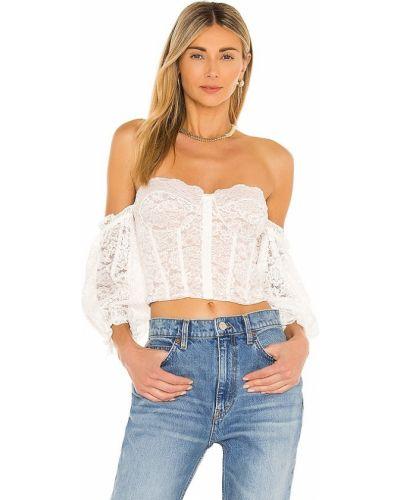 Кружевная блузка - белая Cami Nyc