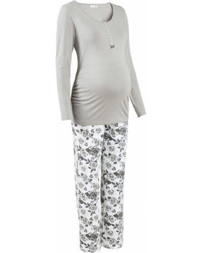 Серая пижама для кормления Bonprix