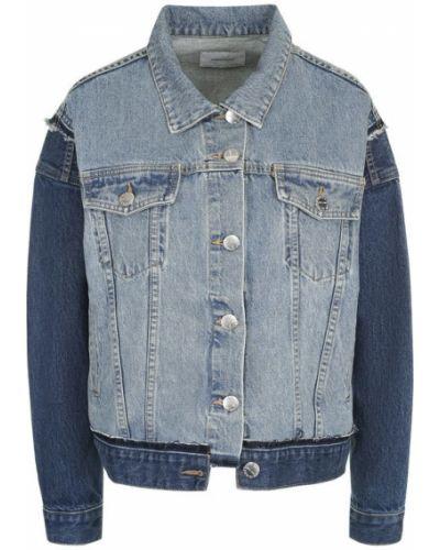 Джинсовая куртка с поясом хлопковая Current/elliott
