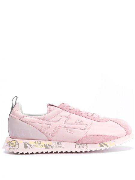 Кроссовки с логотипом розовый Premiata