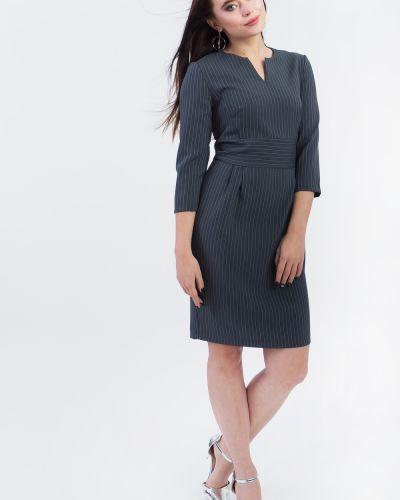 Деловое платье серое классическое Lacywear