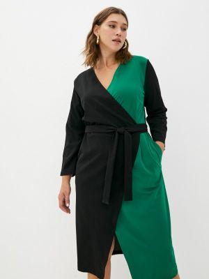 Платье с запахом - зеленое Svesta