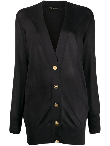 Кардиган черный оверсайз Versace