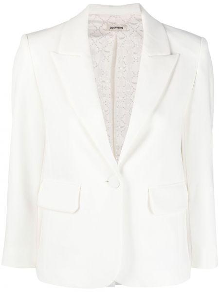 Белый удлиненный пиджак на пуговицах с лацканами Zadig&voltaire