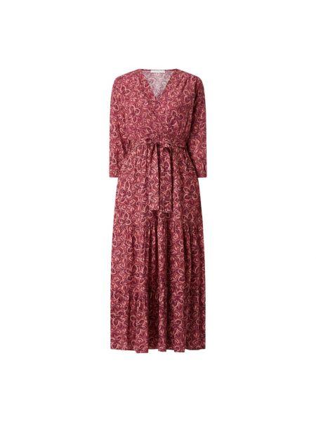 Różowa sukienka rozkloszowana z wiskozy Freebird