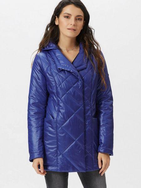 Теплая синяя утепленная куртка D`imma