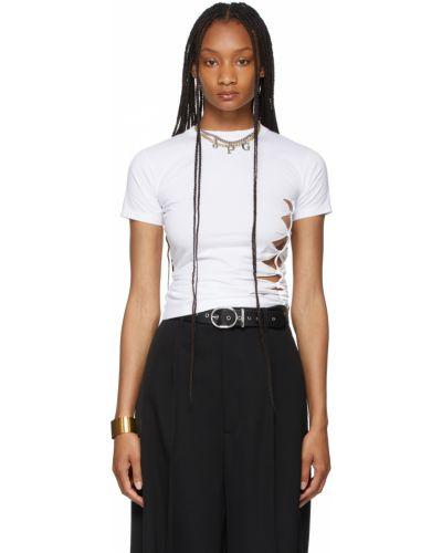 Белая трикотажная футболка Jean Paul Gaultier