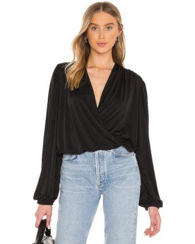 Черная кожаная блузка Lna