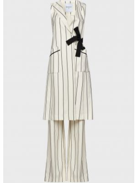 Белый костюмный костюм на пуговицах с поясом Beatrice.b
