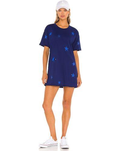 Платье рубашка - синее Michael Lauren