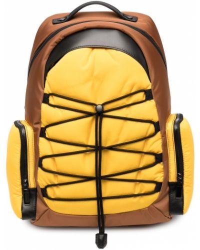 Żółty plecak skórzany Canali