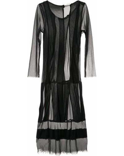 Черное платье миди винтажное с вырезом со вставками Comme Des Garçons Pre-owned