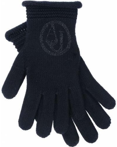 Перчатки акриловые черные Armani Jeans
