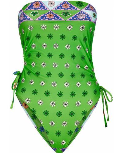 Пляжный зеленый купальник бандо с завязками Frankie's Bikinis