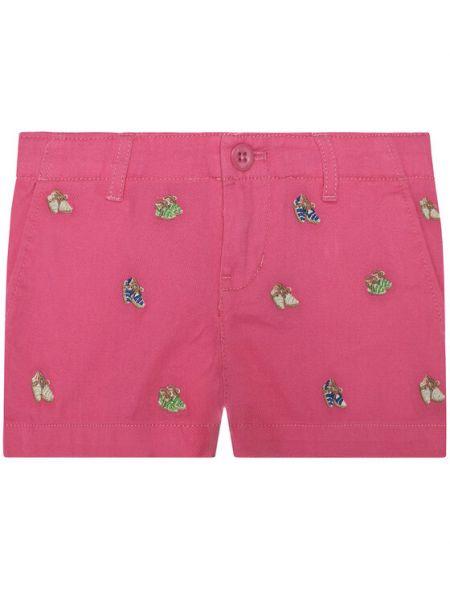 Różowe szorty materiałowe Polo Ralph Lauren