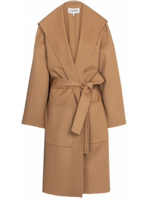 Коричневое кашемировое пальто Loewe