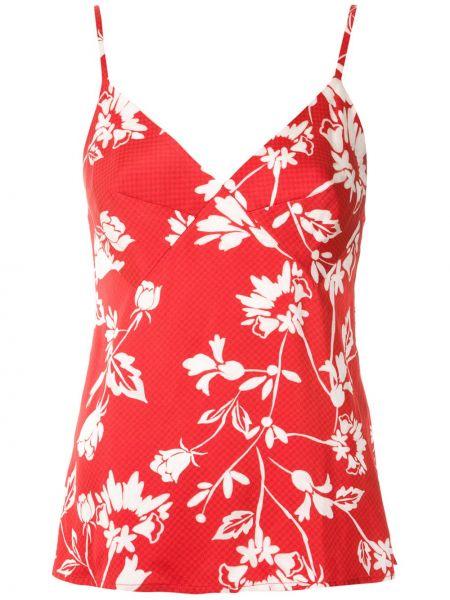 Прямая красная блузка из вискозы Reinaldo Lourenço