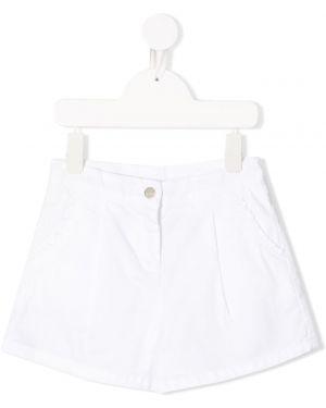 Белые шорты Knot