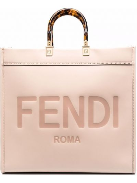 Розовая сумка с логотипом Fendi