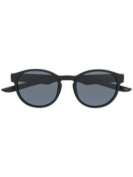 Прямые муслиновые черные солнцезащитные очки круглые Puma