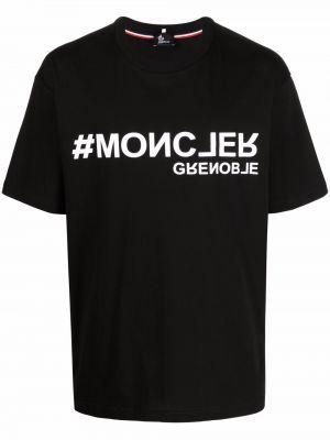 Biała t-shirt bawełniana Moncler Grenoble