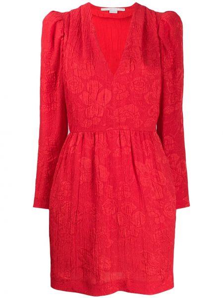 Шелковое платье макси - красное Stella Mccartney