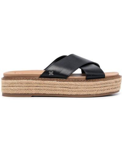 Черные кожаные сандалии Sam Edelman