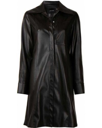 Черное длинное пальто Low Classic