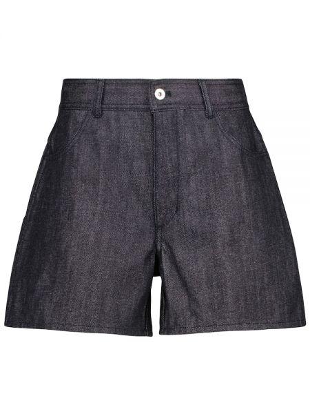 Ciepłe niebieskie jeansy bawełniane Jil Sander