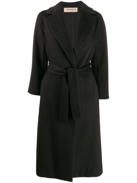 Черное пальто с капюшоном Blanca