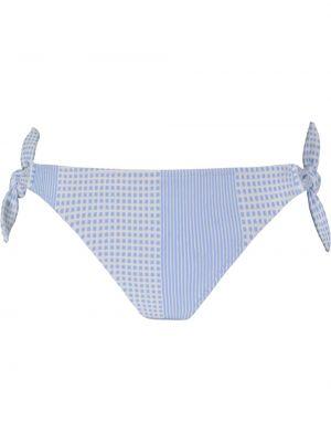 Синие бикини эластичные с завязками Lemlem