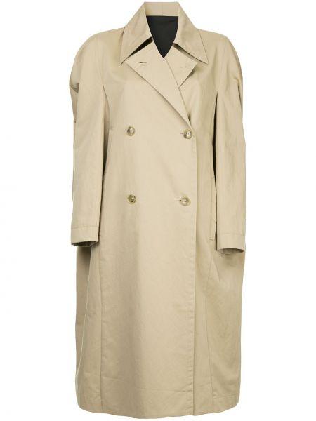 Хлопковое коричневое длинное пальто Ll By Litkovskaya