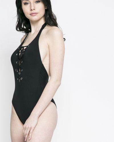 Слитный купальник черный с подкладкой Seafolly