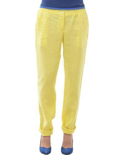 Желтые брюки Armani Jeans