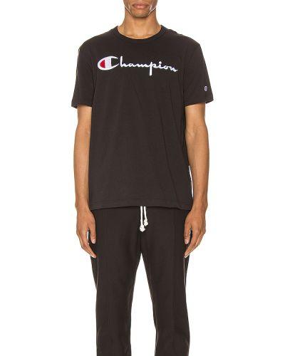 T-shirt bawełniana - czarna Champion Reverse Weave