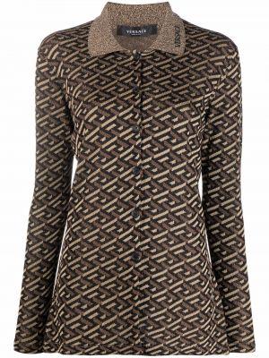 Koszula z wiskozy - czarna Versace