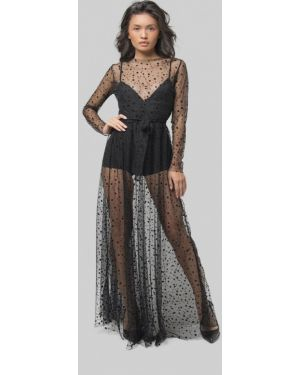 Черное вечернее платье Lipinskaya Brand