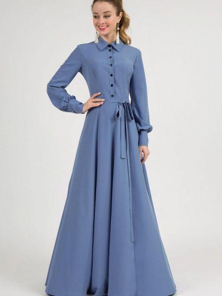 Вечернее платье синее весеннее Marichuell