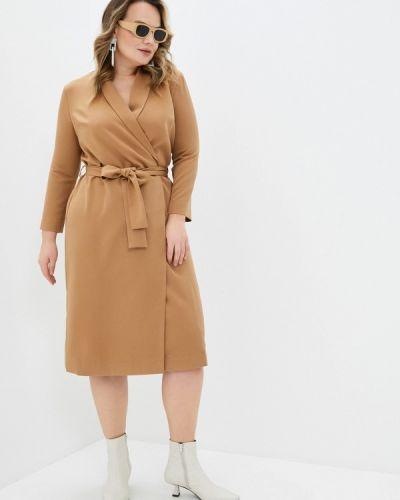 Бежевое платье с запахом Trendyangel