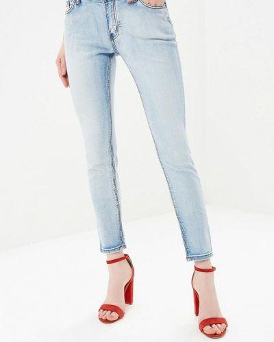 Голубые джинсы-скинни Incity