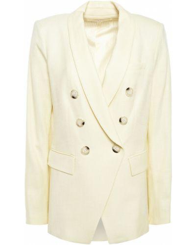 Желтый пиджак двубортный с подкладкой Veronica Beard