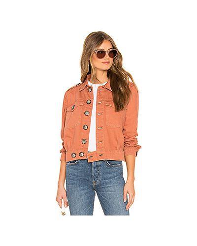 Джинсовая куртка на пуговицах с карманами Free People