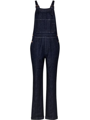 Ватный хлопковый синий джинсовый комбинезон Gabriela Hearst
