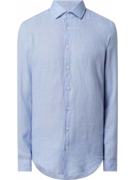 Niebieska koszula slim z długimi rękawami Seidensticker