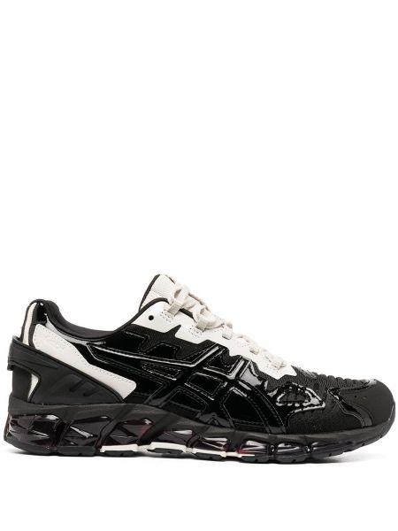 Черные кроссовки на шнуровке со вставками Gmbh