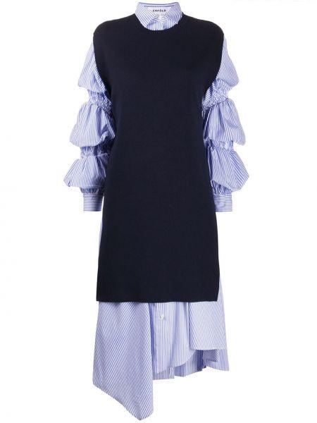 Sukienka z kołnierzem w pasy Enfold