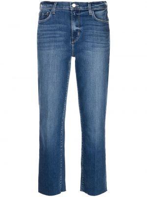 Синие с завышенной талией укороченные джинсы на молнии L'agence