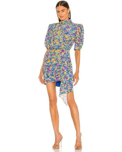 Niebieska sukienka z wiskozy Saylor