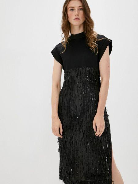 Вечернее черное вечернее платье Just Cavalli